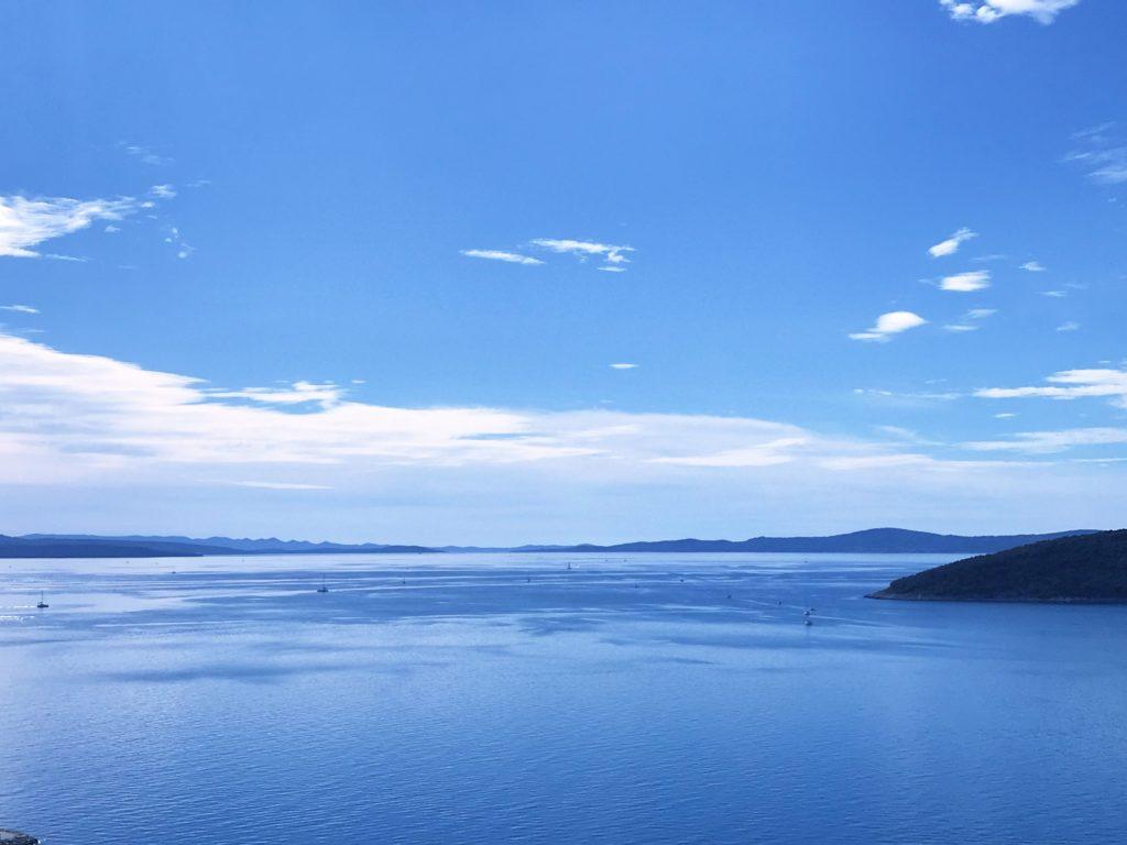 Alone at an open Adriatic Sea, Croatia