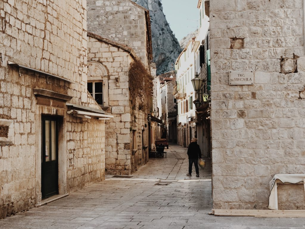 We walked the narrow streets of the old town Omiš
