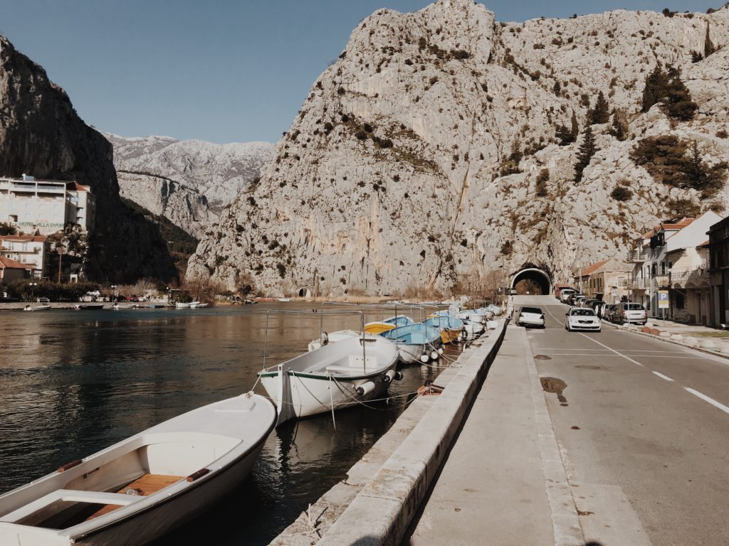 Omiš, at the end of the Cetina Gorge