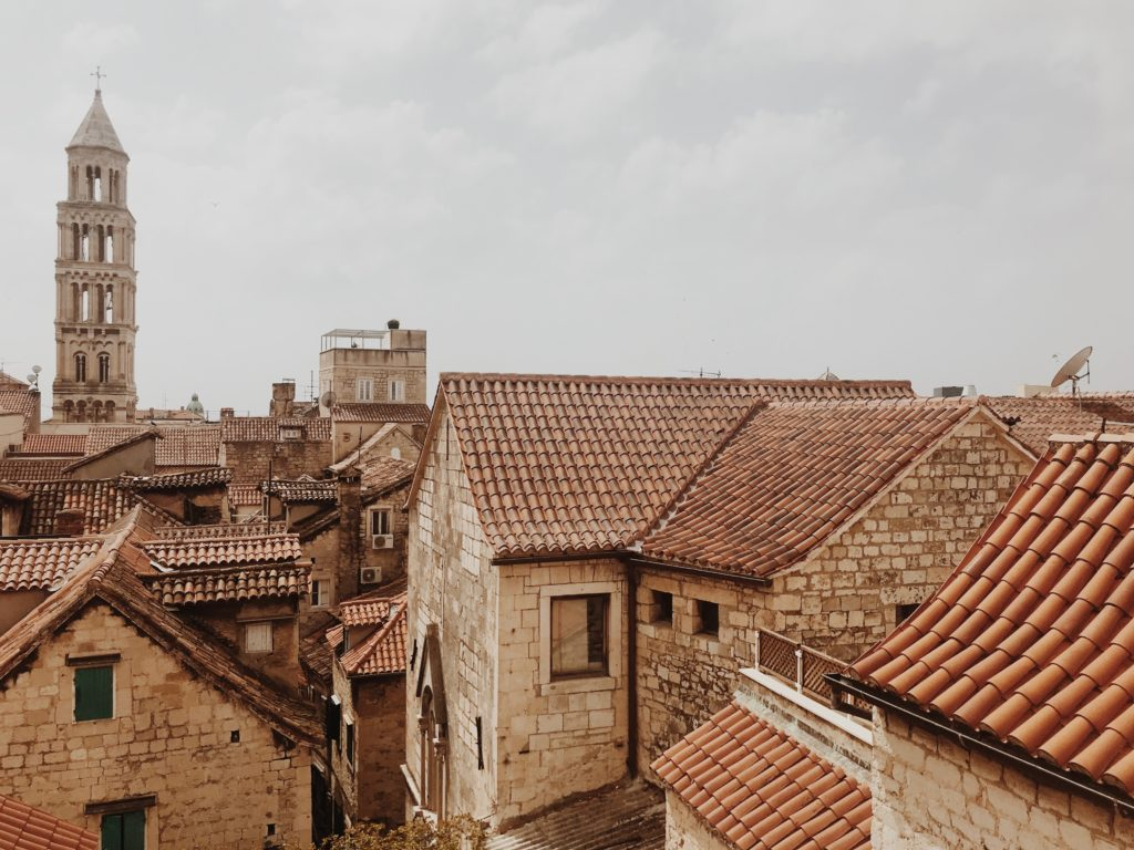 the roofs of Diocletian's palace Split