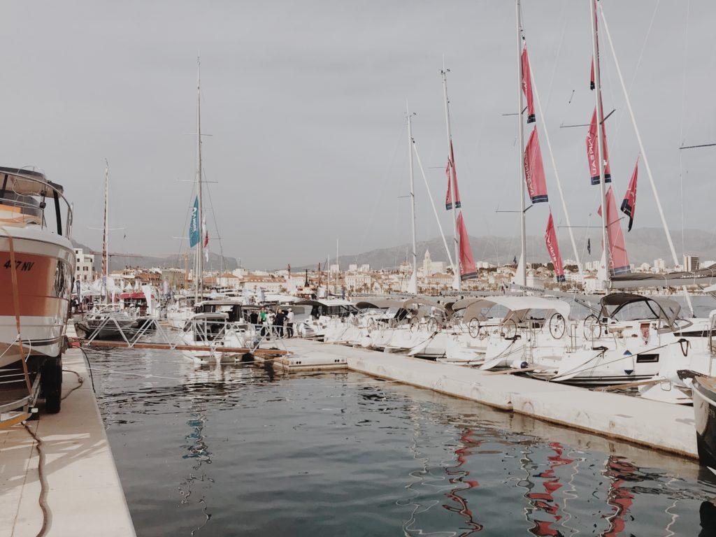 Sailing boats in harbour of Split, ACI Marina Split