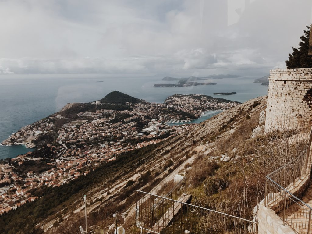 Aerial view West Dubrovnik Lapad