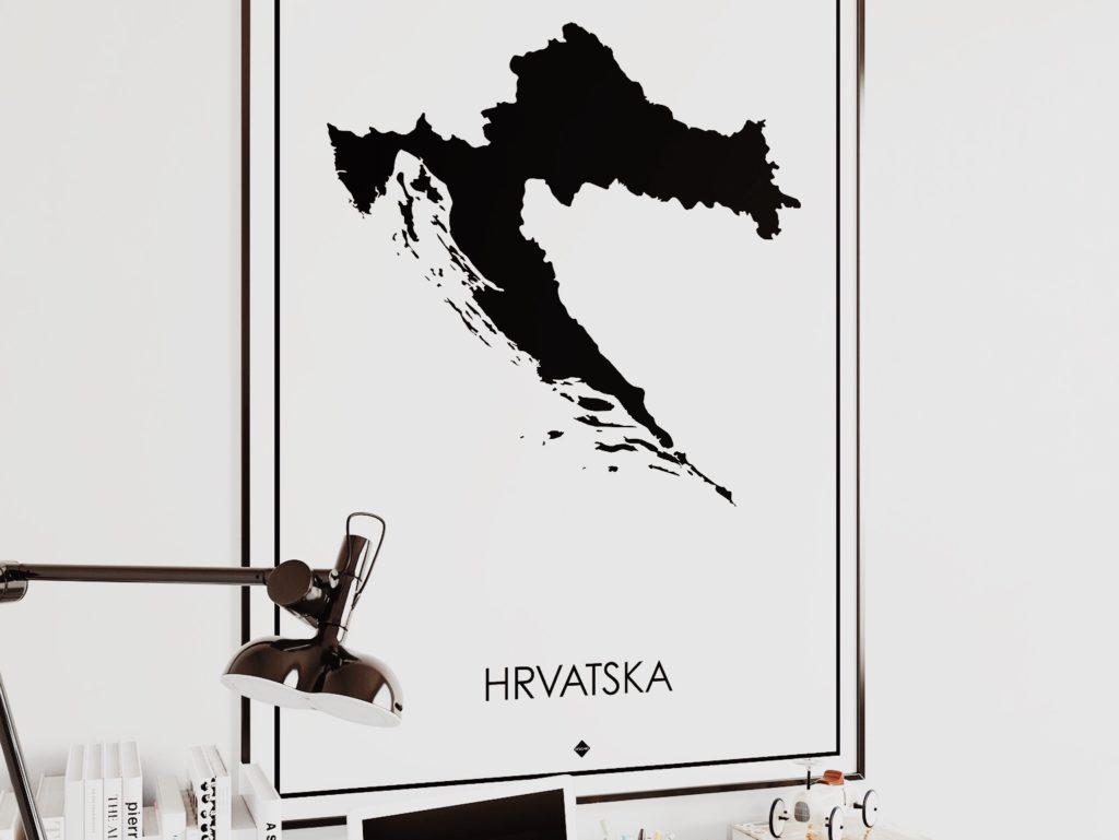 Hrvatska Croatia Poster Art Print Item