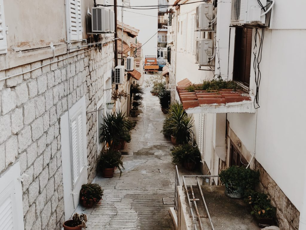 Photo of narrow streets in Split Dalmatian Coast, Croatia, Europe