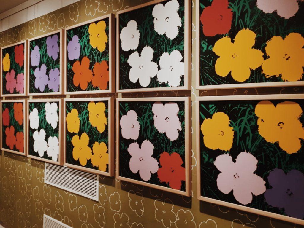 Flowers 73 is part of his Flower Series Pop Art