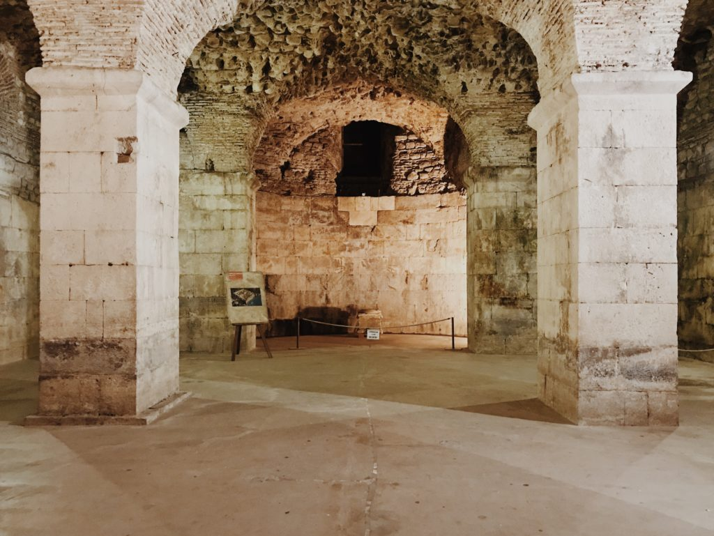 Basement halls of Diocletian's Palace