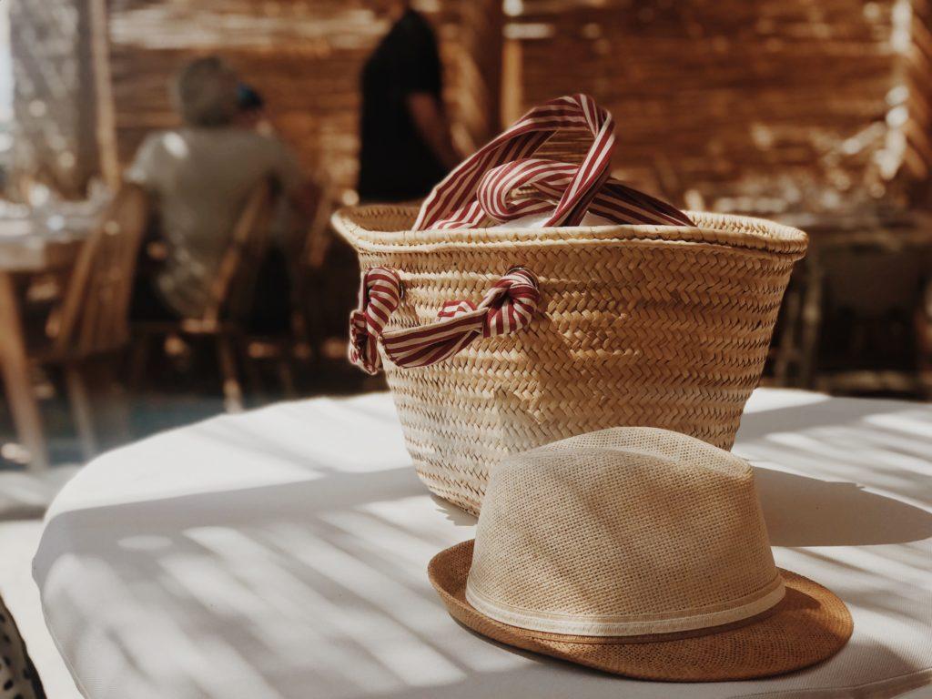 Women's beach accessories, Beach Bag And Hat