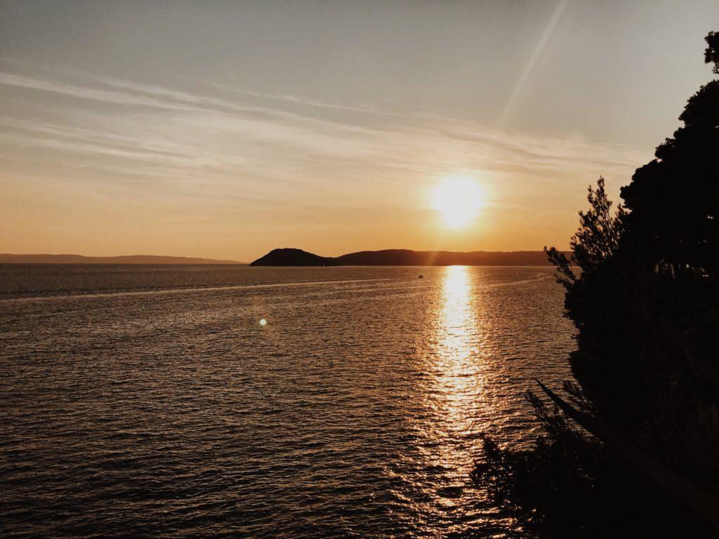 Golden sunset view, Split, Dalmatia, Croatia