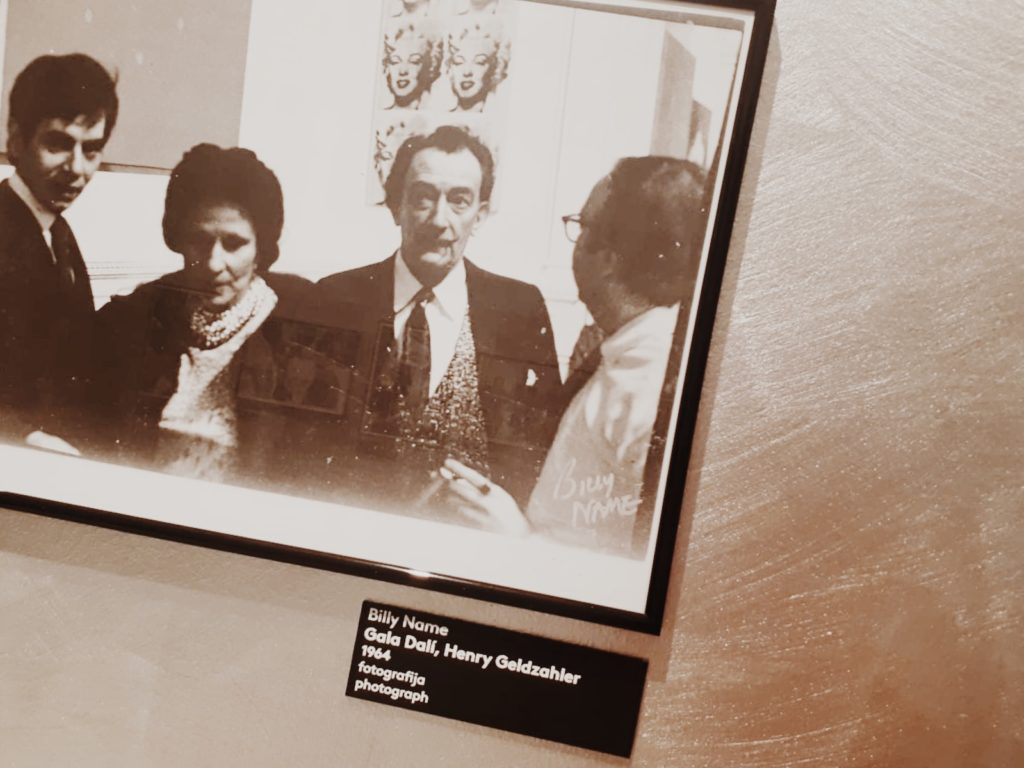 Andy Warhol with (from left) Henry Geldzahler and Gala Dali, 1964