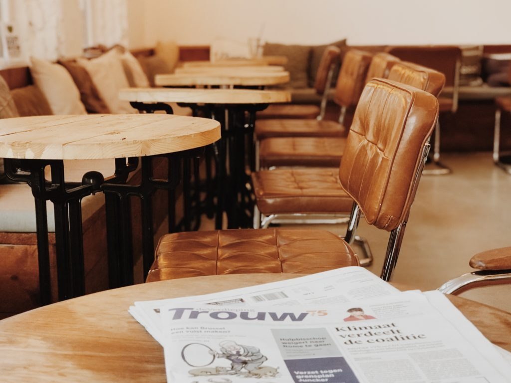 TROUW newspaper on a table