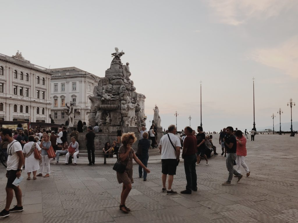 Piazza Unità d'Italia Triese Italy