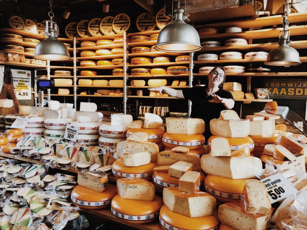 Traditional Dutch cheese shop, Rotterdam, Nederland