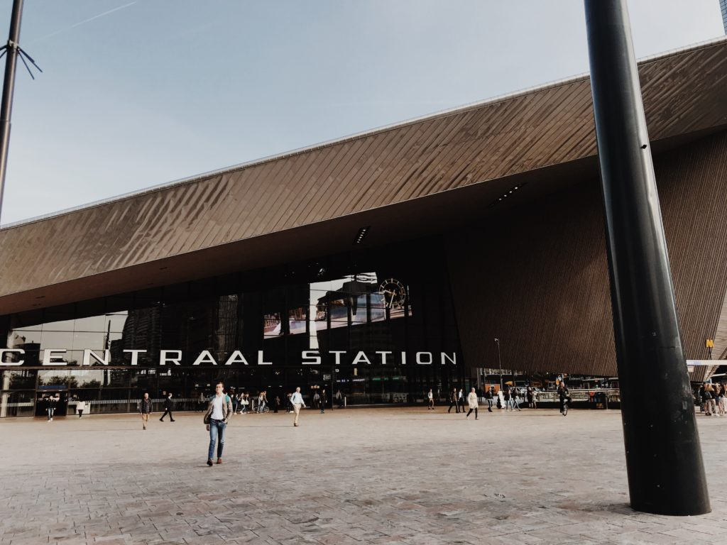 Exterior of Rotterdam Central Station. Rotterdam, Netherlands, Europe