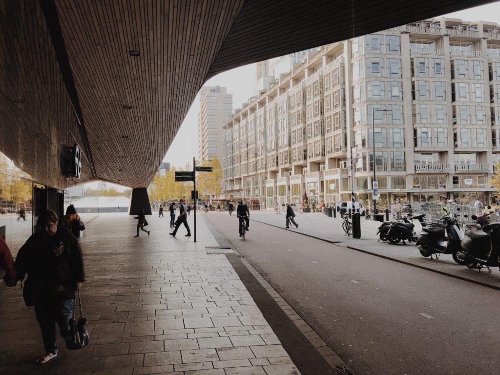 Rotterdam on bike Rotterdam Centraal Station