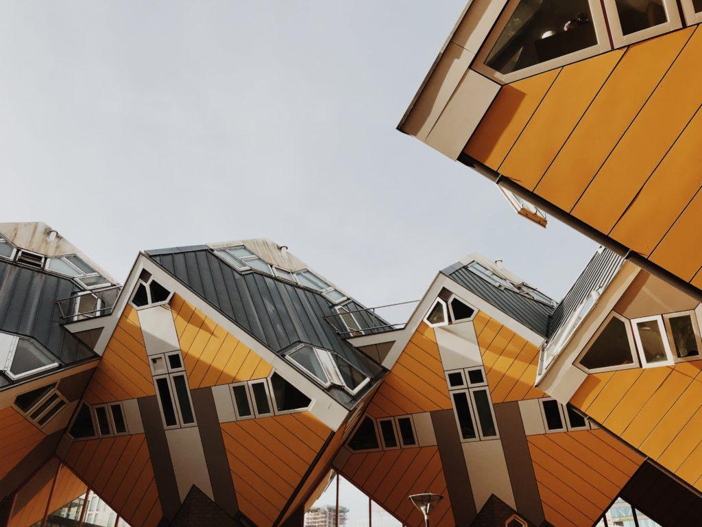 Rotterdam on bike Cube Houses Kubuswoningen