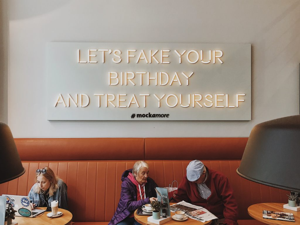 Let's fake your birthday and threat yourself