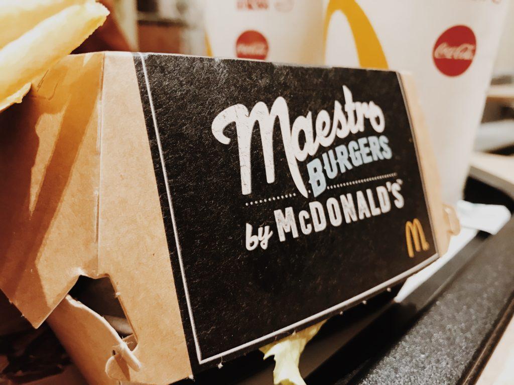 The new maestro burgers - McDonald's