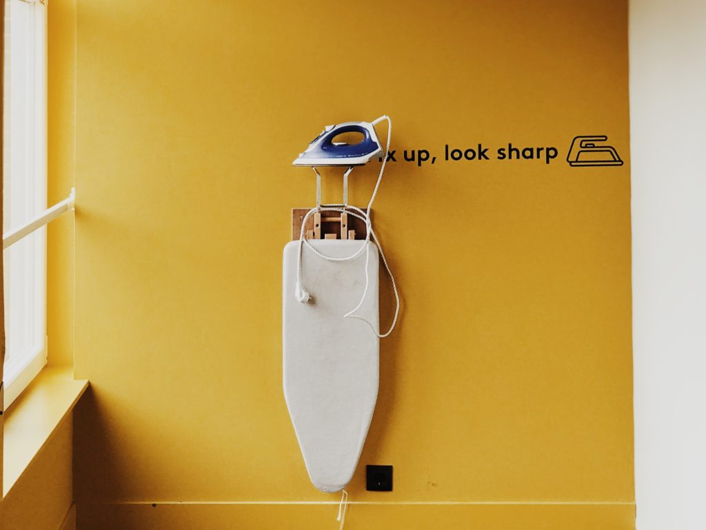 Hang Your Ironing Board On The Wall