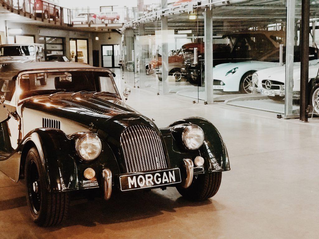 Classic Cars - sleek lovingly restored black Morgan Roadster