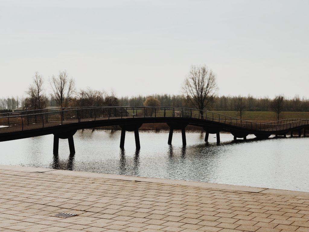 Wavy form of bridge in Barendrecht, Netherlands