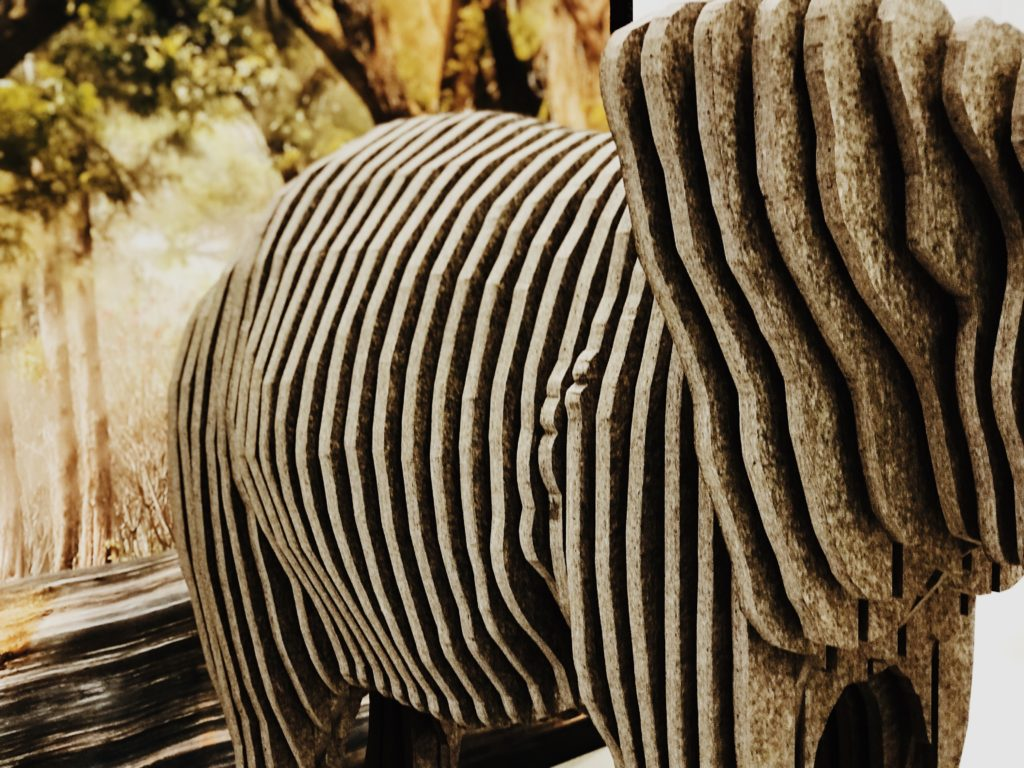 Modern Abstract Elephant Statue
