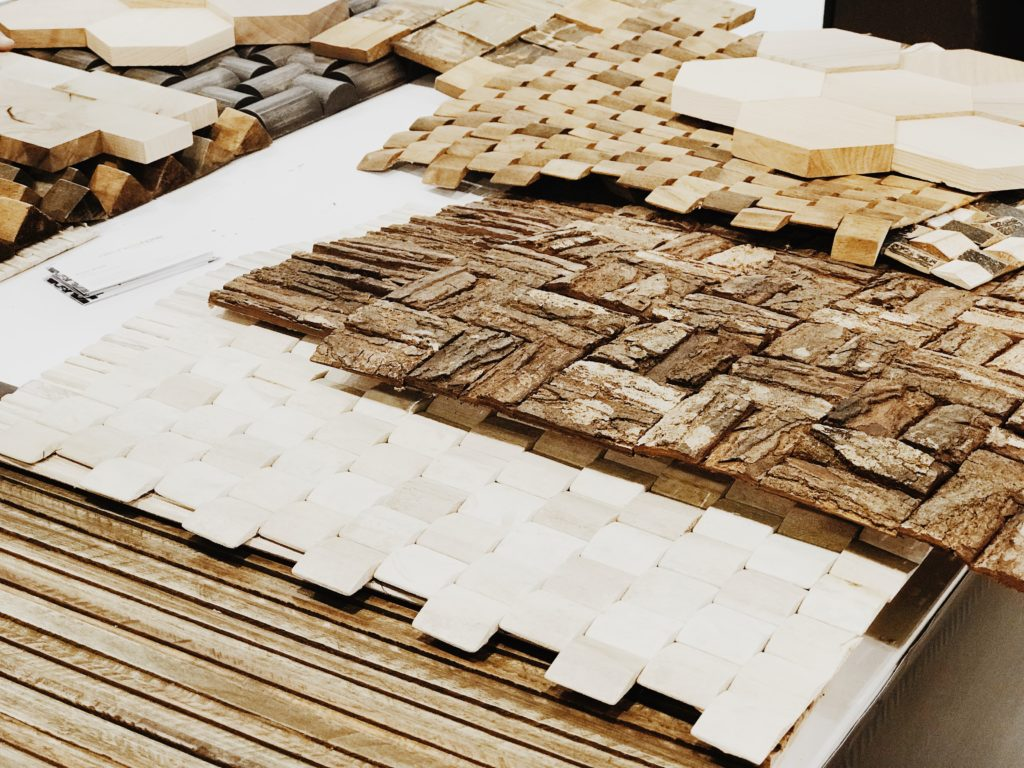 Creative wood material surfaces