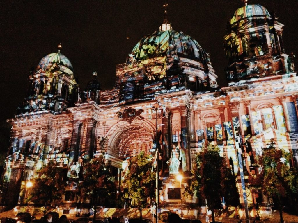 Berliner Dom during Festival of Lights