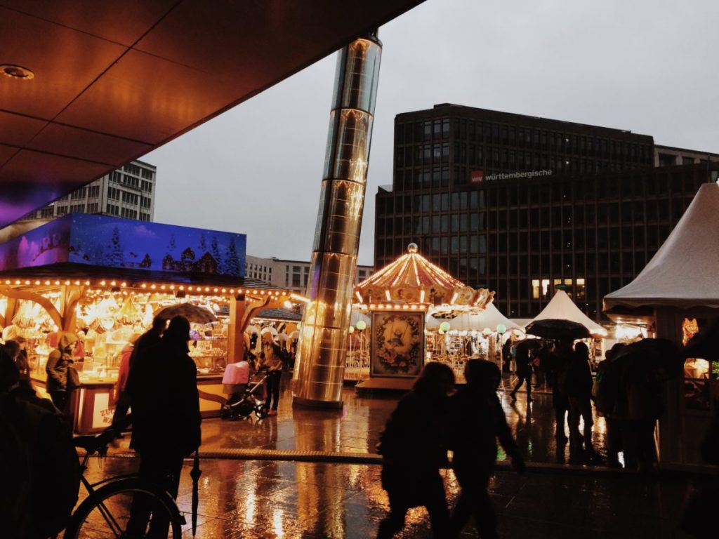 Berlin Christmas Market at Potsdamer Platz, Berlin, Germany