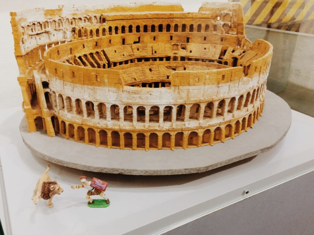 Scale Model of the Colosseum, Rome, Italy