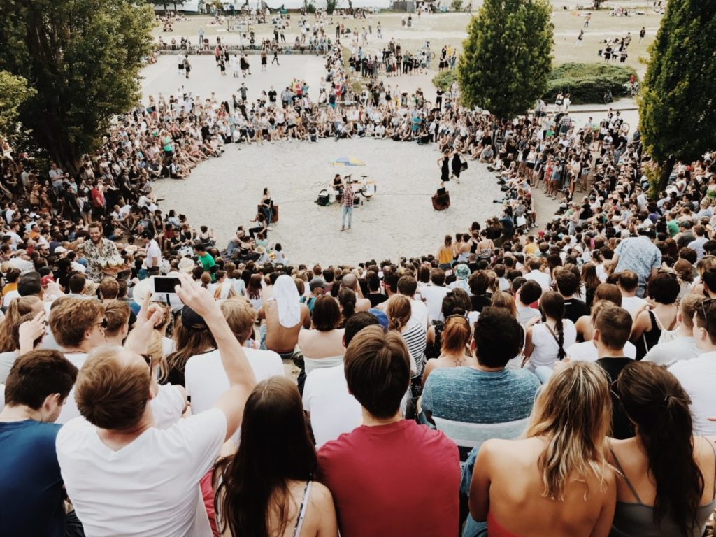 Mauerpark Karaoke from a visitor's perspective