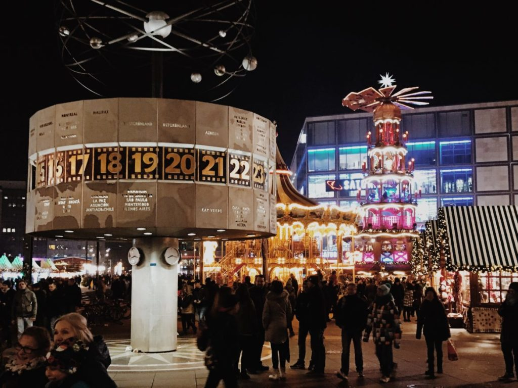 Berlin Christmas Market at Alexanderplatz, Berlin, Germany