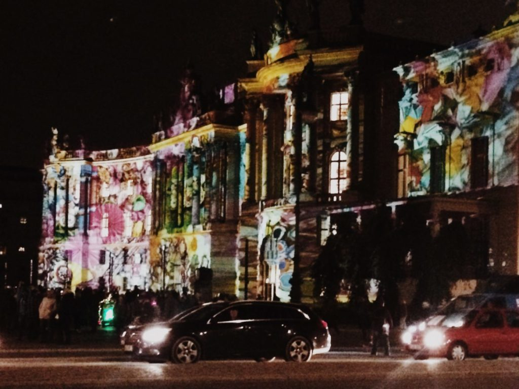 Festival of Lights in Berlin. Faculty of Law of Humboldt University