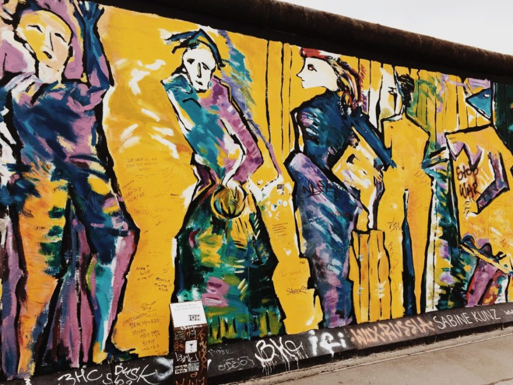 The Murals on the East Side Gallery of the Berlin Wall