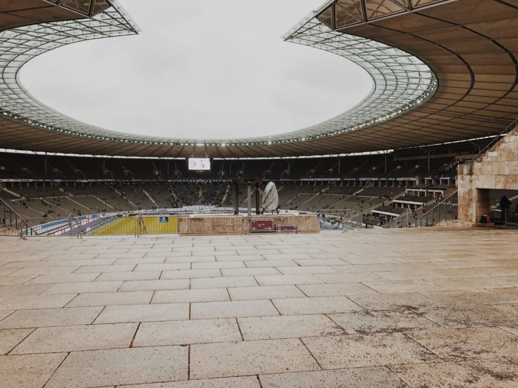 View of the Olympiastadion, Berlin, Germany
