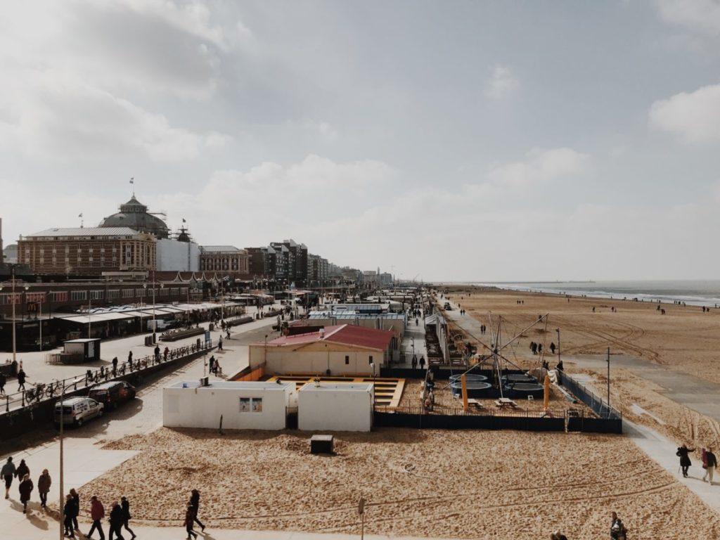 Strandweg, a long beach promenade where you can find resaurants and stores, The Hague (Den Haag), Holland, Netherlands