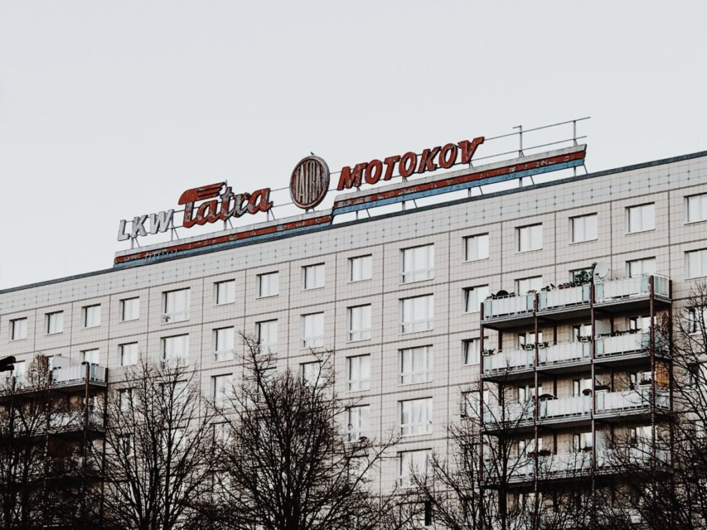 'LKW Tatra Motokov Building' Karl-Marx-Allee, Berlin