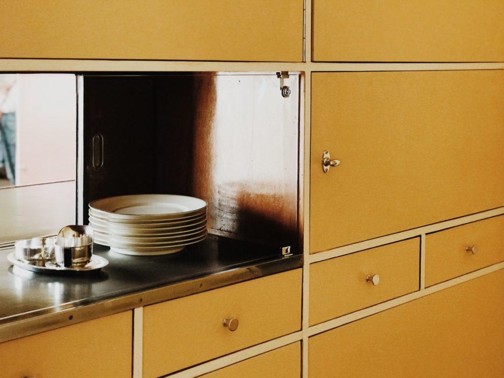 Bauhaus yellow cabinet, Historic designs, Rotterdam, Netherlands