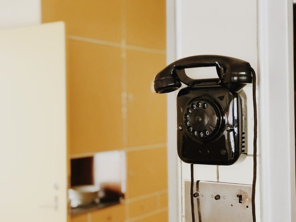 Bauhaus Telephone on the wall, Rotterdam, Netherlands
