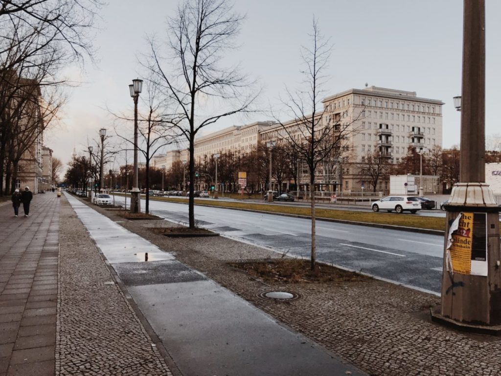Main avenue during of the GDR East Germany, Karl-Marx-Allee