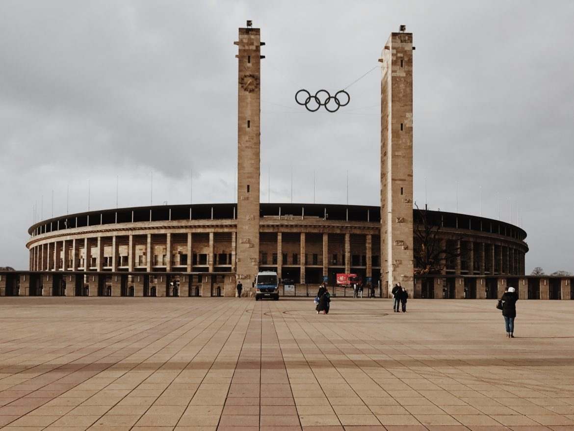 Entrance to Olympic Stadium (Olympiastadion), Berlin, Germany