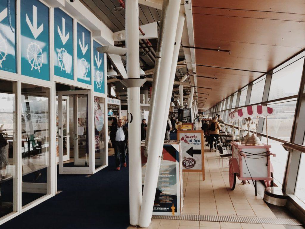 Inside Scheveningen pier in the Hague (Den Haag), Holland, Netherlands.