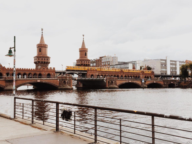 Oberbaum Bridge between Kreuzberg and Friedrichshain, Spree River, Berlin, Germany