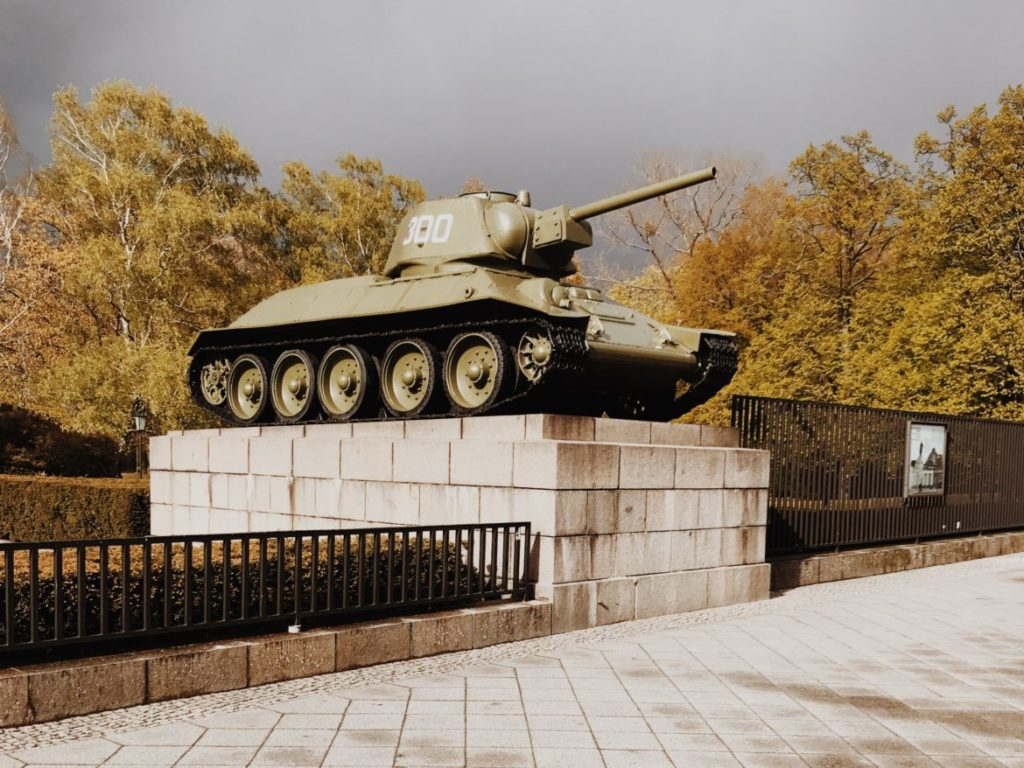 Monument Russian tank T-34/76 in Berlin, Germany