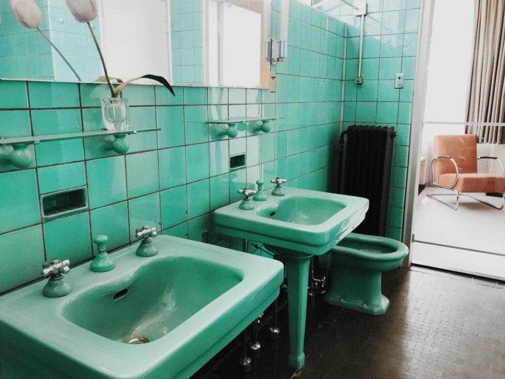 Bauhaus vintage bathroom, Historic designs, Rotterdam, Netherlands