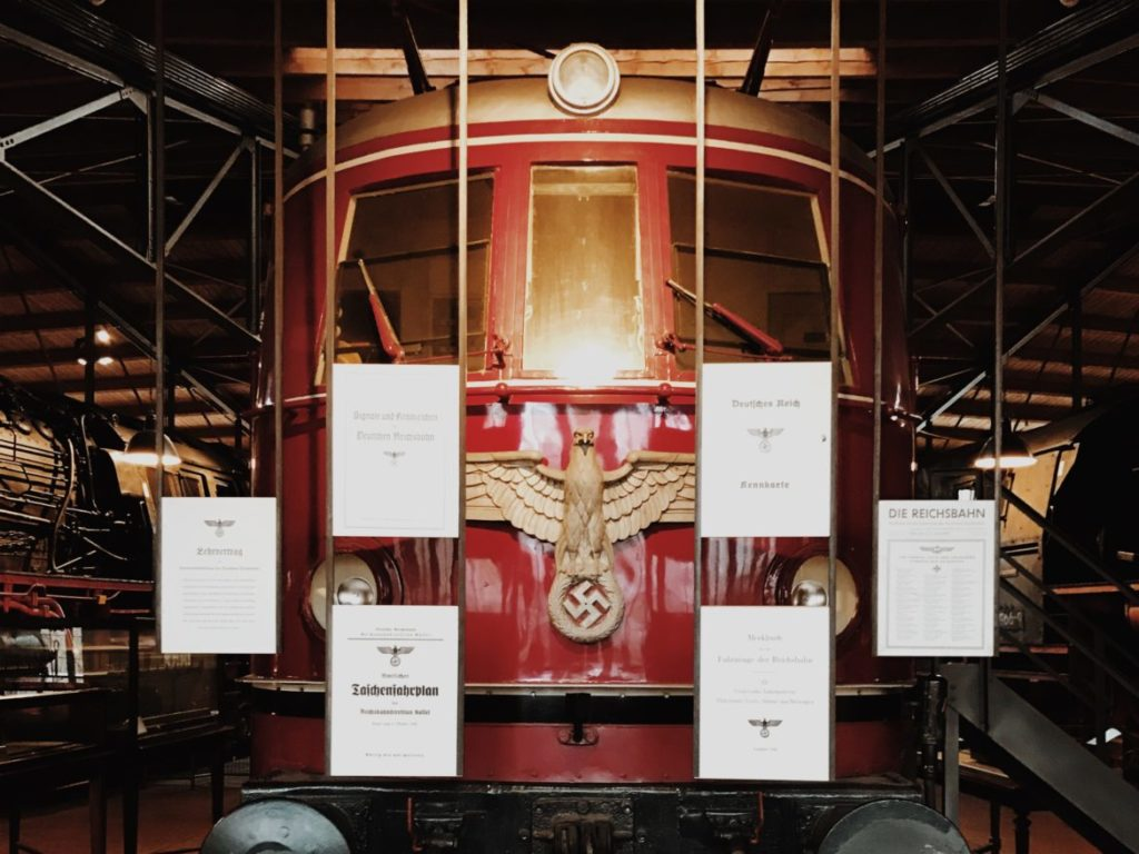 Locomotive E19 01 on display at Technisches Museum Berlin