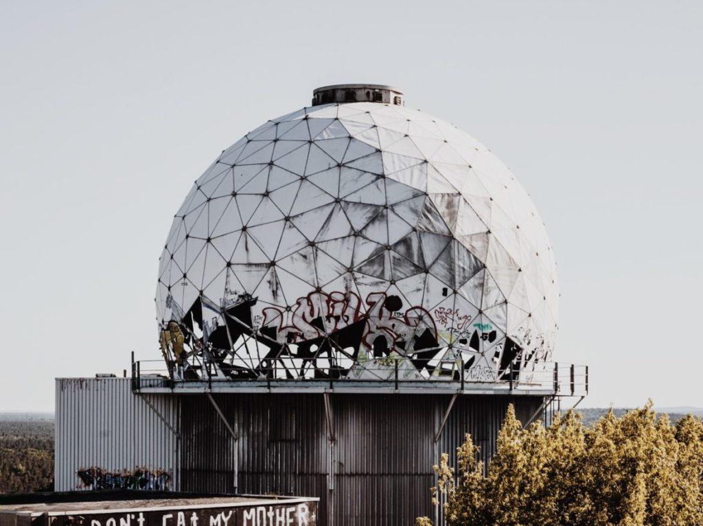 Former US-American radar buildings on the Teufelsberg, Berlin, Germany