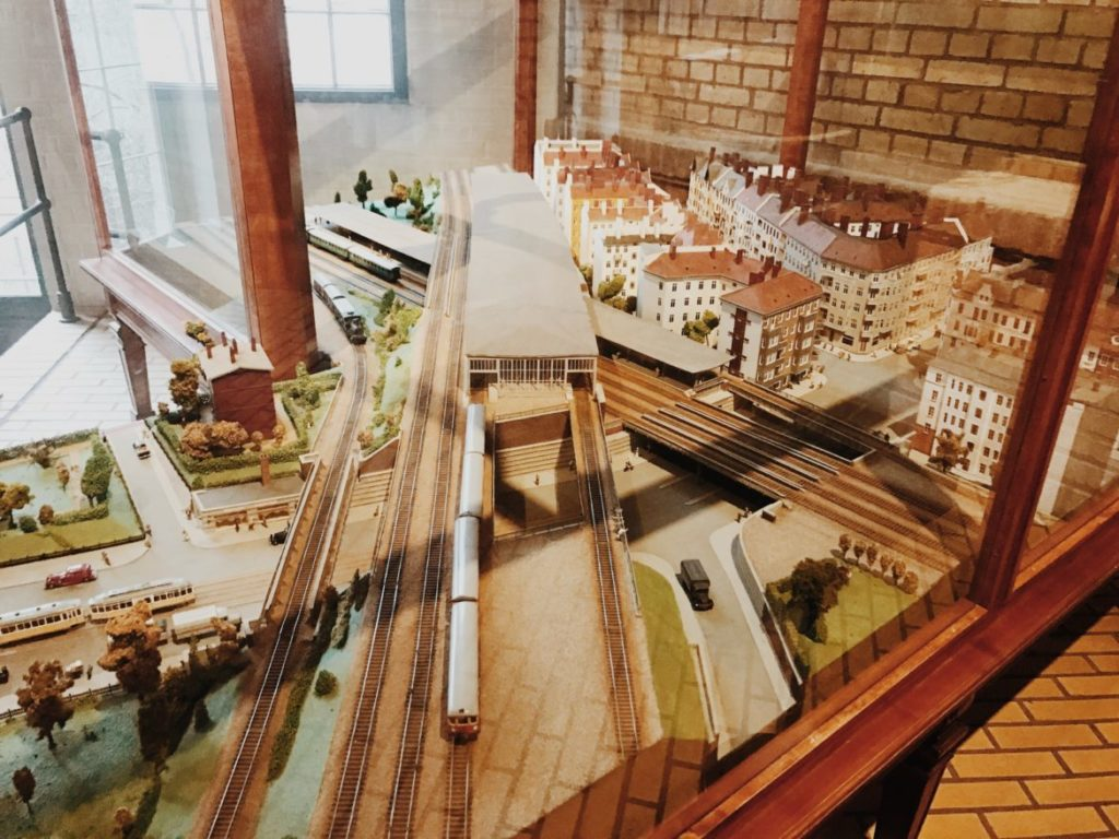 Railroad station scale model