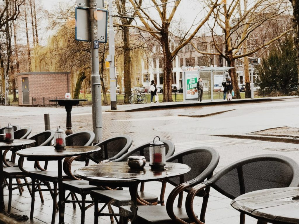 Empty Restaurant Tables, Rotterdam