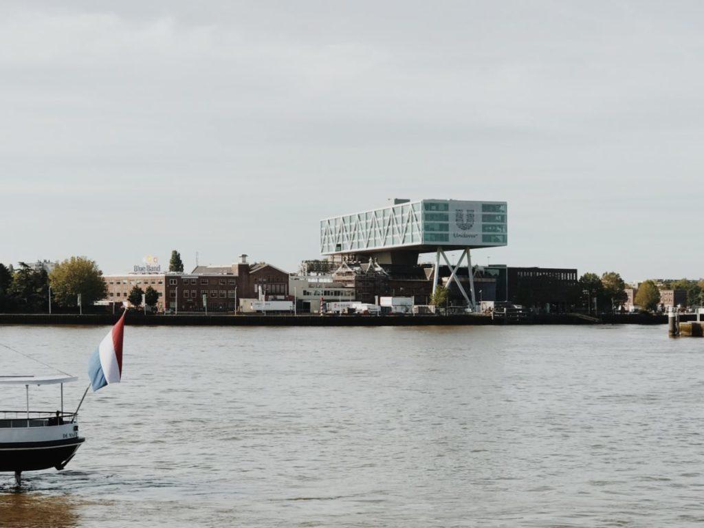 Modern architecture of Feyenoord district in Rotterdam, Netherlands