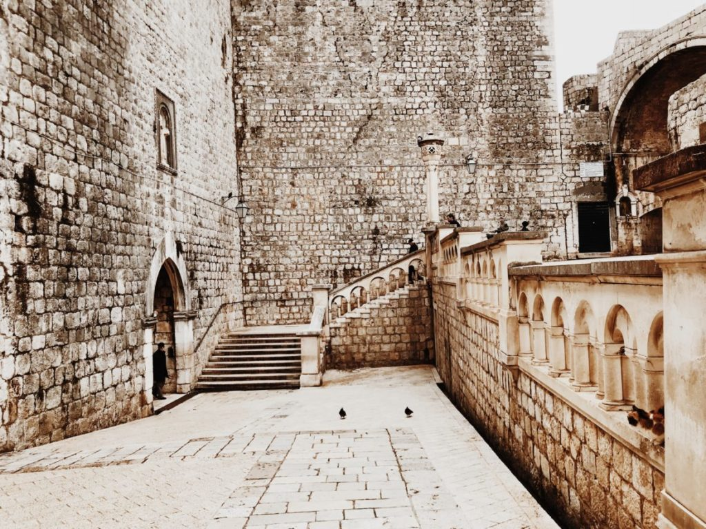 A grand entrance to the Old Town of Dubrovnik